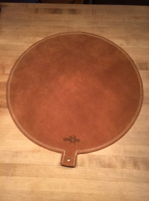 24″ Diameter Double Stitched Leather Shot Bag