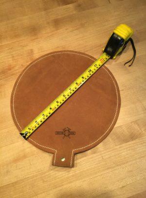 12″ Diameter Leather Shot Bag