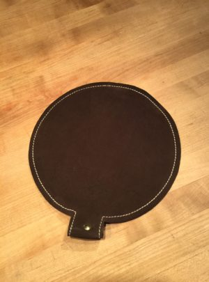 10″ Diameter Leather Shot Bag
