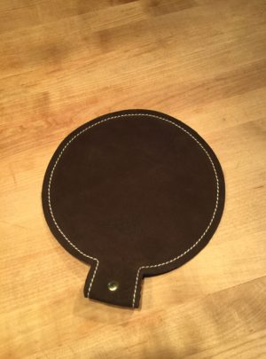 8″ Diameter Leather Shot Bag